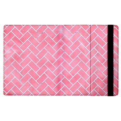 Brick2 White Marble & Pink Watercolor Apple Ipad 2 Flip Case by trendistuff