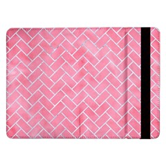 Brick2 White Marble & Pink Watercolor Samsung Galaxy Tab Pro 12 2  Flip Case by trendistuff