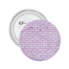 Brick1 White Marble & Pink Watercolor (r) 2 25  Buttons by trendistuff