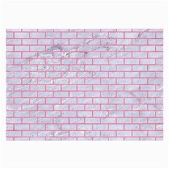 Brick1 White Marble & Pink Watercolor (r) Large Glasses Cloth by trendistuff
