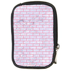 Brick1 White Marble & Pink Watercolor (r) Compact Camera Cases by trendistuff