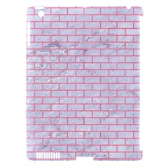 Brick1 White Marble & Pink Watercolor (r) Apple Ipad 3/4 Hardshell Case (compatible With Smart Cover) by trendistuff
