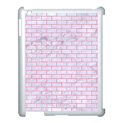Brick1 White Marble & Pink Watercolor (r) Apple Ipad 3/4 Case (white) by trendistuff