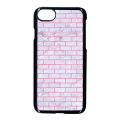 Brick1 White Marble & Pink Watercolor (r) Apple Iphone 8 Seamless Case (black) by trendistuff