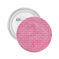Brick1 White Marble & Pink Watercolor 2 25  Buttons by trendistuff