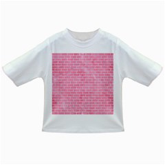 Brick1 White Marble & Pink Watercolor Infant/toddler T Shirts
