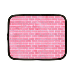 Brick1 White Marble & Pink Watercolor Netbook Case (small)  by trendistuff
