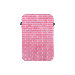 Brick1 White Marble & Pink Watercolor Apple Ipad Mini Protective Soft Cases by trendistuff
