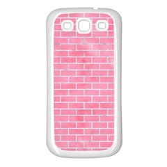 Brick1 White Marble & Pink Watercolor Samsung Galaxy S3 Back Case (white) by trendistuff