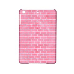 Brick1 White Marble & Pink Watercolor Ipad Mini 2 Hardshell Cases by trendistuff