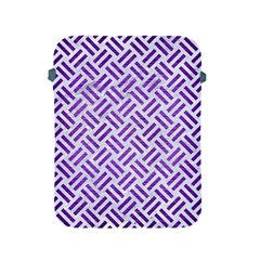 Woven2 White Marble & Purple Brushed Metal (r) Apple Ipad 2/3/4 Protective Soft Cases by trendistuff