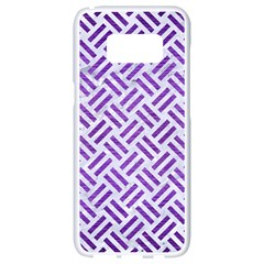 Woven2 White Marble & Purple Brushed Metal (r) Samsung Galaxy S8 White Seamless Case