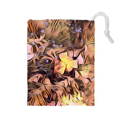 Spring Flowers Drawstring Pouches (large)