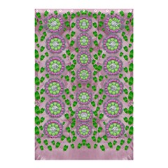 Ivy And  Holm Oak With Fantasy Meditative Orchid Flowers Shower Curtain 48  X 72  (small)  by pepitasart