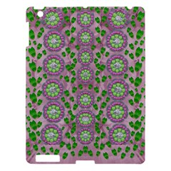 Ivy And  Holm Oak With Fantasy Meditative Orchid Flowers Apple Ipad 3/4 Hardshell Case by pepitasart