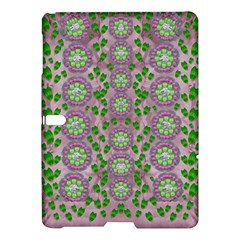 Ivy And  Holm Oak With Fantasy Meditative Orchid Flowers Samsung Galaxy Tab S (10 5 ) Hardshell Case  by pepitasart