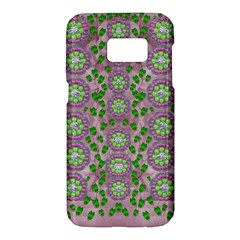 Ivy And  Holm Oak With Fantasy Meditative Orchid Flowers Samsung Galaxy S7 Hardshell Case  by pepitasart