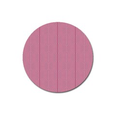 Mod Twist Stripes Red And White Magnet 3  (round) by BrightVibesDesign
