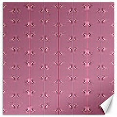 Mod Twist Stripes Red And White Canvas 16  X 16   by BrightVibesDesign