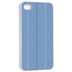 Mod Twist Stripes Blue And White Apple Iphone 4/4s Seamless Case (white) by BrightVibesDesign
