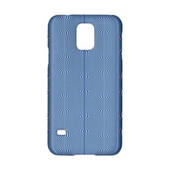 Mod Twist Stripes Blue And White Samsung Galaxy S5 Hardshell Case  by BrightVibesDesign