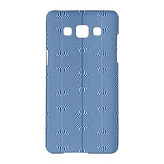 Mod Twist Stripes Blue And White Samsung Galaxy A5 Hardshell Case  by BrightVibesDesign