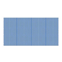 Mod Twist Stripes Blue And White Satin Wrap by BrightVibesDesign