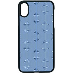 Mod Twist Stripes Blue And White Apple Iphone X Seamless Case (black)