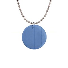 Mod Twist Stripes Blue And White Button Necklaces by BrightVibesDesign