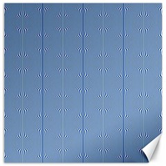 Mod Twist Stripes Blue And White Canvas 16  X 16   by BrightVibesDesign
