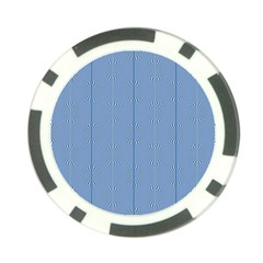 Mod Twist Stripes Blue And White Poker Chip Card Guard (10 Pack) by BrightVibesDesign