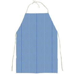 Mod Twist Stripes Blue And White Full Print Aprons by BrightVibesDesign