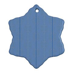 Mod Twist Stripes Blue And White Snowflake Ornament (two Sides) by BrightVibesDesign