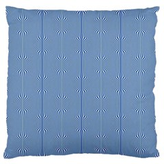 Mod Twist Stripes Blue And White Large Flano Cushion Case (one Side) by BrightVibesDesign