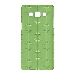 Mod Twist Stripes Green And White Samsung Galaxy A5 Hardshell Case  by BrightVibesDesign