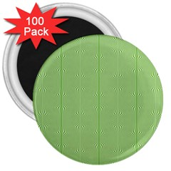 Mod Twist Stripes Green And White 3  Magnets (100 Pack) by BrightVibesDesign