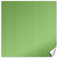 Mod Twist Stripes Green And White Canvas 16  X 16   by BrightVibesDesign