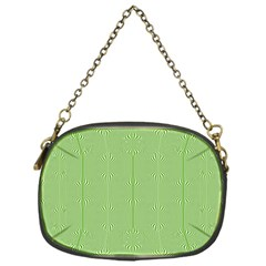 Mod Twist Stripes Green And White Chain Purses (one Side)  by BrightVibesDesign