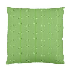 Mod Twist Stripes Green And White Standard Cushion Case (two Sides) by BrightVibesDesign