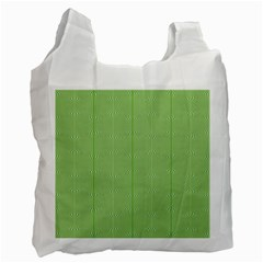 Mod Twist Stripes Green And White Recycle Bag (two Side)  by BrightVibesDesign