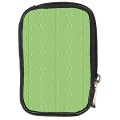 Mod Twist Stripes Green And White Compact Camera Cases by BrightVibesDesign