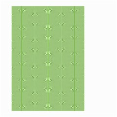 Mod Twist Stripes Green And White Small Garden Flag (two Sides) by BrightVibesDesign
