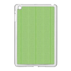 Mod Twist Stripes Green And White Apple Ipad Mini Case (white) by BrightVibesDesign