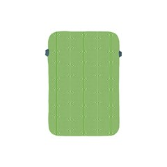 Mod Twist Stripes Green And White Apple Ipad Mini Protective Soft Cases by BrightVibesDesign