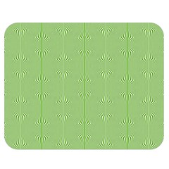 Mod Twist Stripes Green And White Double Sided Flano Blanket (medium)  by BrightVibesDesign