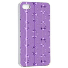 Mod Twist Stripes Purple And White Apple Iphone 4/4s Seamless Case (white) by BrightVibesDesign