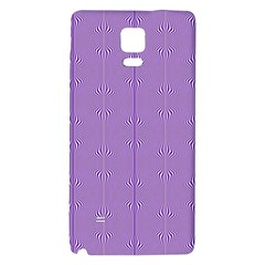Mod Twist Stripes Purple And White Galaxy Note 4 Back Case by BrightVibesDesign