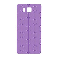Mod Twist Stripes Purple And White Samsung Galaxy Alpha Hardshell Back Case by BrightVibesDesign