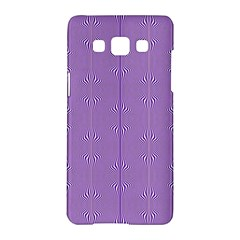 Mod Twist Stripes Purple And White Samsung Galaxy A5 Hardshell Case  by BrightVibesDesign