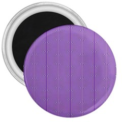 Mod Twist Stripes Purple And White 3  Magnets by BrightVibesDesign